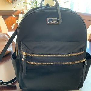 Kate Spade ♠️ Black Nylon Backpack.